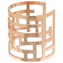 Buy John Lewis Large Cut Out Cuff, Rose Gold Online at johnlewis.com