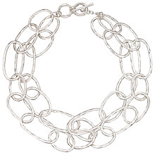 Buy John Lewis Layered Circles Necklace, Silver Online at johnlewis.com