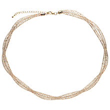 Buy John Lewis Mini Crystals Necklace, Gold Online at johnlewis.com