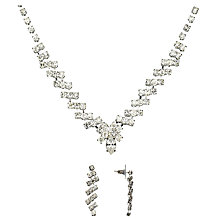 Buy John Lewis Czech Stone Necklace With Drop Earrings Set, Silver Online at johnlewis.com