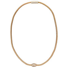 Buy John Lewis Fine Diamante Mesh Necklace, Rose Gold Online at johnlewis.com