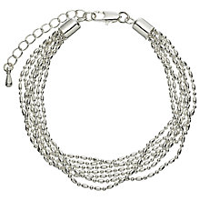 Buy John Lewis Layered Fine Chain Bracelet, Silver Online at johnlewis.com