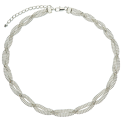 John Lewis Entwined Chain Necklace, Silver