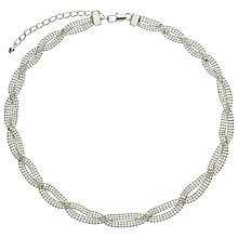 Buy John Lewis Entwined Chain Necklace, Silver Online at johnlewis.com