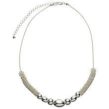 Buy John Lewis Effervescence & Bead Necklace, Silver Online at johnlewis.com