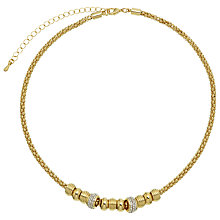 Buy John Lewis Diamante Charms Necklace, Gold Online at johnlewis.com