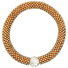 Buy John Lewis Plain Effervescence Crystal Bracelet, Gold Online at johnlewis.com