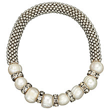 Buy John Lewis Effervescence Faux Pearl Bracelet, White / Silver Online at johnlewis.com