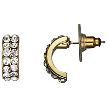 Buy John Lewis Half Hoop Diamante Earrings, Gold Online at johnlewis.com