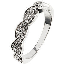 Buy Johh Lewis Twist Ring, Silver Online at johnlewis.com