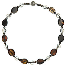 Buy John Lewis Short Large Stone Necklace, Brown Online at johnlewis.com
