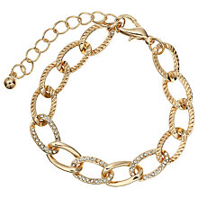 Buy John Lewis Diamante Chain Brooch, Rose Gold Online at johnlewis.com