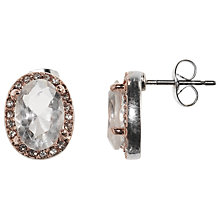 Buy John Lewis Oval Earrings, Rose Gold Online at johnlewis.com