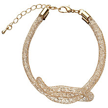 Buy John Lewis Mini Crystals Bracelet, Gold Online at johnlewis.com