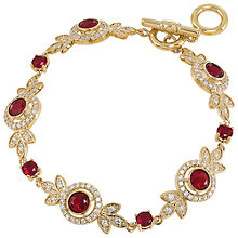Buy Carolee Oval Stone Crystal Flexible Bracelet, Red Online at johnlewis.com