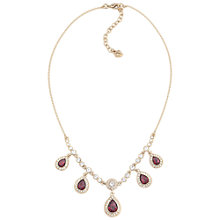 Buy Carolee Drop Oval Stone Necklace, Red Online at johnlewis.com