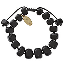 Buy Lola Rose Fern Obsidian Bracelet, Black Online at johnlewis.com