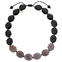 Buy Lola Rose Abbie Agate/Obsidian Necklace, Grey/Black Online at johnlewis.com