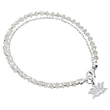 Buy Astley Clarke Sterling Silver Lotus Friendship Bracelets, Silver/White Online at johnlewis.com