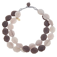 Buy Lola Rose Kolette Agate/Quartzite Necklace, Moonbean/Cocoa Online at johnlewis.com