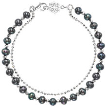 Buy Dower & Hall Sterling Silver Beaded Pearl Friendship Bracelet Online at johnlewis.com