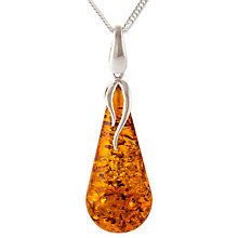 Buy Be-Jewelled Amber Curb Chain Pendant, Cognac Online at johnlewis.com