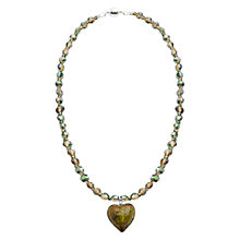 Buy Martick Sparkle Heart and Crystal Pendant Necklace Online at johnlewis.com