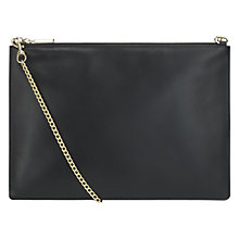 Buy Whistles Rivington Chain Pouch Leather Bag, Black Online at johnlewis.com