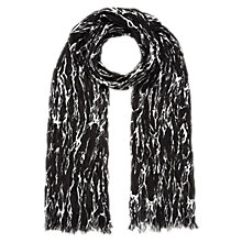 Buy Whitsles Marble Print Crinkle Scarf, Black/White Online at johnlewis.com