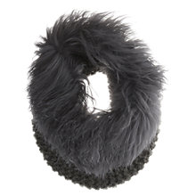 Buy Mint Velvet Mongolian Snood, Grey Online at johnlewis.com