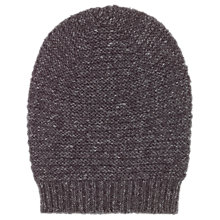 Buy Whistles Link Stitch Hat, Dark Grey Online at johnlewis.com