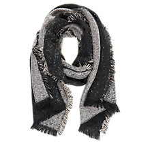 Buy Mint Velvet Striped Blanket Scarf, Grey Online at johnlewis.com