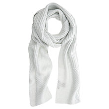Buy Mint Velvet Metallic Knitted Scarf, Pale Green Online at johnlewis.com
