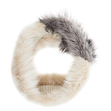 Buy Mint Velvet Contrast Faux Fur Snood, Cream / Latte Online at johnlewis.com