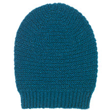 Buy Whistles Link Stitch Hat, Teal Online at johnlewis.com