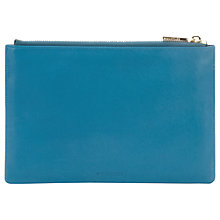 Buy Whistles Small Leather Clutch, Teal Online at johnlewis.com