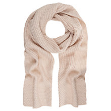 Buy Mint Velvet Metallic Scarf, Pale Pink Online at johnlewis.com