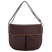 Buy Whistles Duffy Zip Leather Satchel Bag, Burgundy Online at johnlewis.com