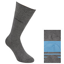 Buy BOSS Cotton Rich Socks, Pack of 3, One Size, Grey/Blue Online at johnlewis.com