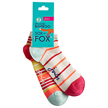 Buy Joules Rilla Trainer Socks, Pack of 2, Lemon Online at johnlewis.com