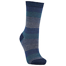 Buy John Lewis Graduated Stripe Ankle Socks, Blue Online at johnlewis.com