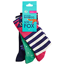 Buy Joules Brill Bamboo Socks, Pack of 3, One Size Online at johnlewis.com