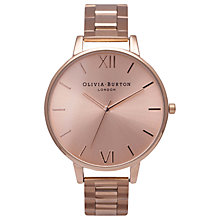 Buy Olivia Burton OB13BI07BS Women's Big Dial Bracelet Watch, Rose Gold Online at johnlewis.com