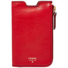 Buy Fossil Sydney Leather Phone Sleeve Wallet Online at johnlewis.com