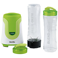 Buy Breville Blend-Active Blender, White/Green Online at johnlewis.com