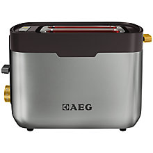 Buy AEG AT5300-U 2-Slice Toaster, Stainless Steel Online at johnlewis.com