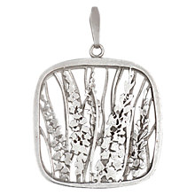 Buy Sharon Mills Flower Pendant, Silver Online at johnlewis.com