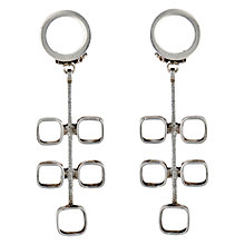 Buy Sharon Mills 1960s Peril Drop Earrings, Silver Online at johnlewis.com