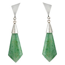 Buy Sharon Mills Drop Agate Earrings, Silver Online at johnlewis.com