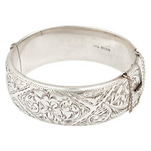 Buy Sharon Mills 1963 Birmingham Flower Bangle, Silver Online at johnlewis.com